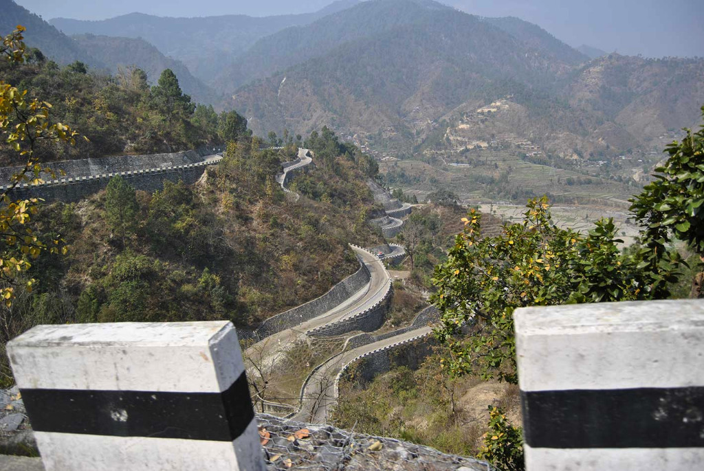 The B.P. Koirala Highway 158 km long it took 19 years to build, partly due to Japanese contractors being unwilling to use explosives in case they got into the wrong hands so it was all done by hand or machine.